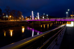 Most w Nitra mieście Fotografia Royalty Free