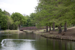 Most w parku Zdjęcie Royalty Free