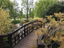 Most w parku w Londyn Obrazy Stock