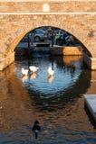 Most w porcie Naussa, Paros Zdjęcia Stock