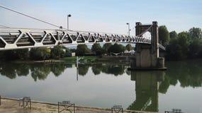 Most w Trevoux Obraz Stock