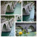 Most w Wyszehradzkim przez Drina Obrazy Stock