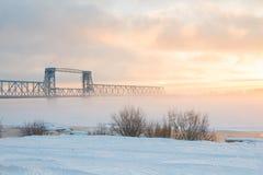 Most w zimie Zdjęcia Royalty Free