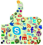 Most wanted social media icons Royalty Free Stock Images