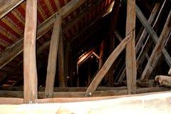 Most warowny średniowieczny kościół w wiosce Veseud, Zied, Transylvania zdjęcie royalty free