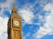 The most well-known ID of London - Big Ben. Royalty Free Stock Photo