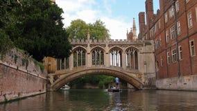 Most westchnienia w Cambridge, Anglia zdjęcia royalty free