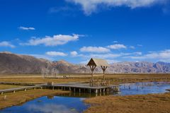 Autumn Landscape of Taxkorgan in Kashgar Royalty Free Stock Photo