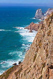 The most Western point of Europe, Cabo da Roca, Portugal Royalty Free Stock Photos