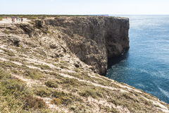 Most western point in Europe, coast of Sagres, Portugal Stock Photos