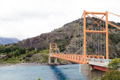 Most wzdłuż Carretera Austral, Patagonia, Chile zdjęcia stock