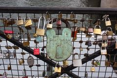 Most z kłódkami Obrazy Royalty Free