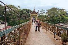 Most z Minangkabau architekturą Bukittinggi Sumatra islan Fotografia Royalty Free
