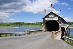 most zakrywający nad rzeką zdjęcie stock