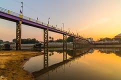 Most zmierzch Obrazy Stock