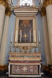 """Mosta, †di Malta """"28 gennaio 2016 Altare laterale della chiesa di parrocchia di Santa Maria in Mosta, Malta Fotografia Stock Libera da Diritti"""
