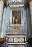 """Mosta, †di Malta """"28 gennaio 2016 Altare laterale della chiesa di parrocchia di Santa Maria in Mosta, Malta Immagine Stock Libera da Diritti"""