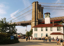 Mosta Brooklyńskiego park Obrazy Royalty Free