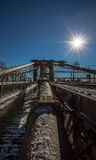 Mosta Brooklyńskiego szczegół Obraz Stock