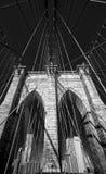 Mosta Brooklyńskiego monochrom fotografia stock