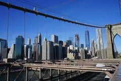 Mosta Brooklyńskiego Nowy Jork Manhattan hudson Zdjęcia Royalty Free