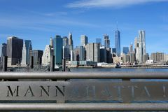 Mosta Brooklyńskiego Nowy Jork Manhattan hudson Obrazy Royalty Free