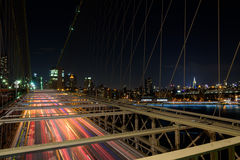 Mosta Brooklyńskiego ruch drogowy Zdjęcie Stock