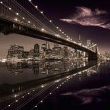 Mosta Brooklyńskiego zmierzch Nowy Jork Manhattan Obraz Stock