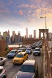Mosta Brooklyńskiego zmierzch Nowy Jork Manhattan Zdjęcie Royalty Free