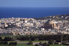 Mosta dome. An ariel view of mosta dome - malta Stock Photos