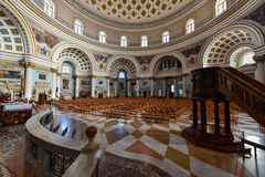 Mosta Dome church interior Malta Royalty Free Stock Photography
