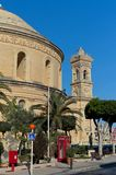 Churches of Malta - Mosta Rotunda. The monumental parish church of St Mary dedicated to the Assumption of Our Lady, known as the Mosta Dome or Rotunda - Mosta Royalty Free Stock Image
