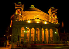 Mosta dome at night - Malta Stock Image