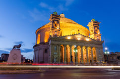 Mosta dome at night - Malta Stock Photos