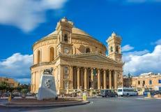 Mosta, Malta - a abóbada de Mosta na luz do dia Imagens de Stock
