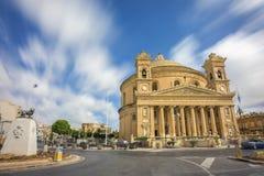 Mosta Malta - den Mosta kupolen på dagsljus Royaltyfri Foto