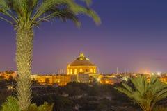 Mosta, Malta - die Mosta-Haube oder die Kirche von der Annahme von lizenzfreies stockbild