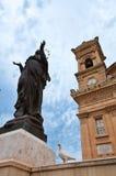 Mosta Malta historisk stad Fotografering för Bildbyråer