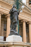 Mosta, Malta - May 11, 2017: Virgin Mary statue in front of the Mosta Rotunda Dome.  Stock Photography