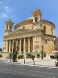 Mosta Rotunda. The Mosta Rotunda (also known as the church of St. Mary) is located in the town of Mosta in Malta Stock Photo