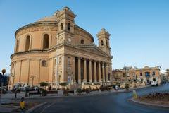Mosta rotunda church. Malta. MOSTA, MALTA - AUGUST 21, 2017: The dome of the Rotunda of Mosta Church of the Assumption of Our Lady is the third largest Stock Photos