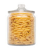 Mostaccioli Pasta in a Glass Apothecary Jar Stock Images