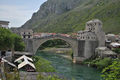 mostar παλαιός γεφυρών Στοκ εικόνα με δικαίωμα ελεύθερης χρήσης