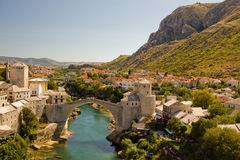 Mostar. View of Mostar, Bosnia and Herzegovina Royalty Free Stock Images