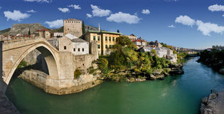 Mostar. Ancient city of mostar old town, bosnia herzegovina Stock Image