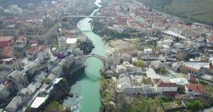 Mostar-alte Brücke Stockfoto