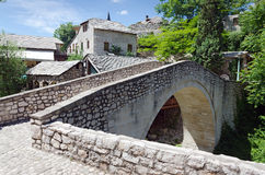 Mostar. Another Bridge. A corner of the old city of Mostar, in Bosnia Herzegovina Royalty Free Stock Photos