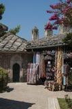 Mostar, bazar, mercado, compras, Koski Mehmed Pasha Mosque, Bosnia y Herzegovina, Europa, Islam, religión, lugar de culto fotos de archivo