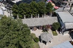 Mostar, bazar, mercado, compras, Koski Mehmed Pasha Mosque, Bosnia y Herzegovina, Europa, Islam, religión, lugar de culto fotos de archivo libres de regalías