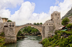 Mostar in Bosnia and Herzegovina is the most important city in the Herzegovina region. Stock Photo